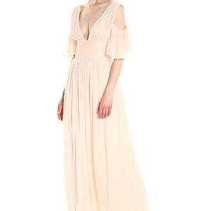Constance Drape Maxi Cold Shoulder Dress Pink Opal